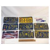 Lot of 9 License PA Plates