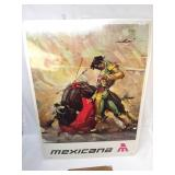 Print, Mexicana Bullfighter Travel Poster, Vintage