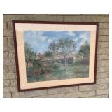 "Print, ""Cottage"" by C. Pissarro"