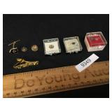 Lot of 7 Items, Masonic Pins, Tie Clips and More