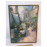 Original Oil on Canvas Art Painting, Italian, Vint