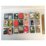 Lot of 21 Decks of Playing Cards, Vintage