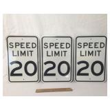 Lot of 2 Speed Limit Signs