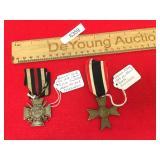 Lot of 2 German Military Badges, Merit Cross and H