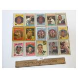 Lot of 15 Baseball Trading Cards, Vintage