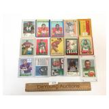 Lot of 15 Football Trading Cards, Vintage
