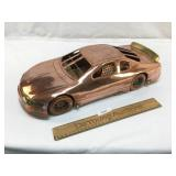 Copper and Brass NASCAR Racing Car