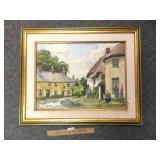 Original Watercolor, Art Painting, Village of Ring