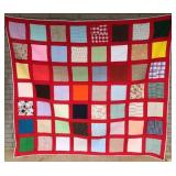 Quilt, Checker Pattern, Vintage