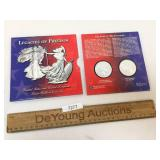 Legacies of Freedom Set, Two Silver Coins, 1993 Am
