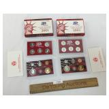 Lot of 2 US Coin Silver Proof Sets