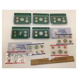 Lot of 7 US Proof Sets, Coins