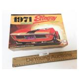 Plastic Model Kit, 1971 Corvette Stingray, Vintage