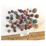 Lot of 50 Clay Marbles, Vintage or Antique