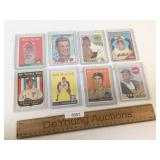Lot of 8 Baseball Trading Cards, Vintage