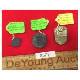 Lot of 3 WWII Era German Pins