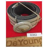 WWII Era Luftwaffe Officer Belt with Buckle