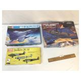 Lot of 3 Plastic Model Kits, Military