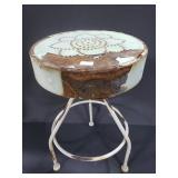 Small metal rusty stool