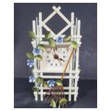 Small metal trellis clock