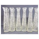 12 Hoosier glass flower bud vases