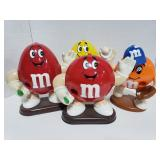 4 M&M candy dispensers