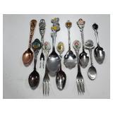 Petite souvenir spoon & fork collection