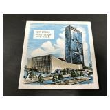 Vintage mid century United Nations tile