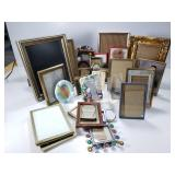 Large assortment of frames