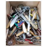 Box lot of vintage kitchen utensils