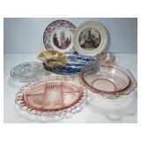 Glass platters, plates and bowls