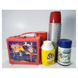 Vintage Thermos collection w/ Laser Tag lunch box