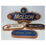 4 Molson beer signs