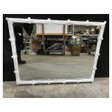 Vintage white framed mirror