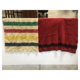Vintage wool throw blanket pair