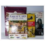 4 vintage car books