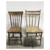 Wood chair pair