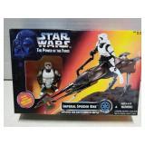 Star Wars toy figure, Imperial Speeder Bike, 1995