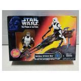 Star Wars toy figure set, Imperial Speeder Bike,
