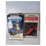 Battlestar Galactica and Conan books