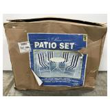 New in box 5 piece patio set