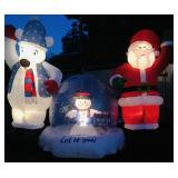 Large outdoor Christmas blow up display