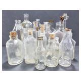 Vintage assortment of small glass bottles
