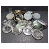 Vintage glass & metal canning jar lids