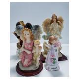 Poly resin angel figurines