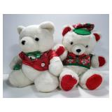 Santa Bear Christmas holiday pair