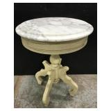 Marble topped small end table