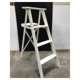 Small white painted ladder