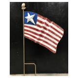 Metal patriotic American flag garden lawn decor