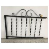 Wrought iron fence rail salvage section